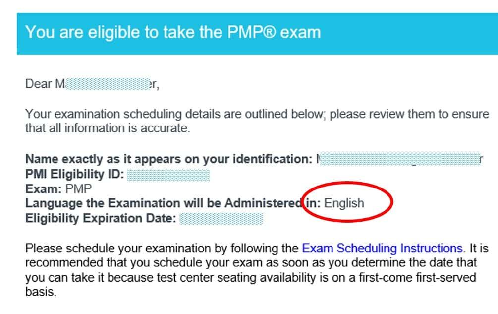 Das PMP-Eligibility-Mail von PMI